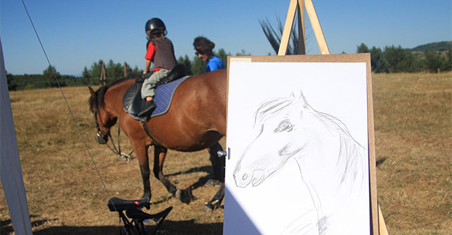 Рисуване и езда